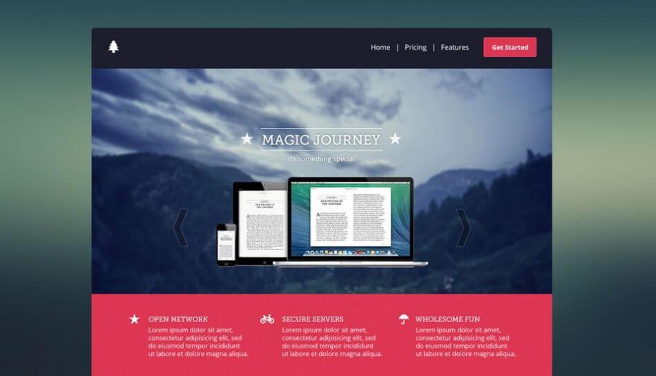 Magic Journey | UI Web Design