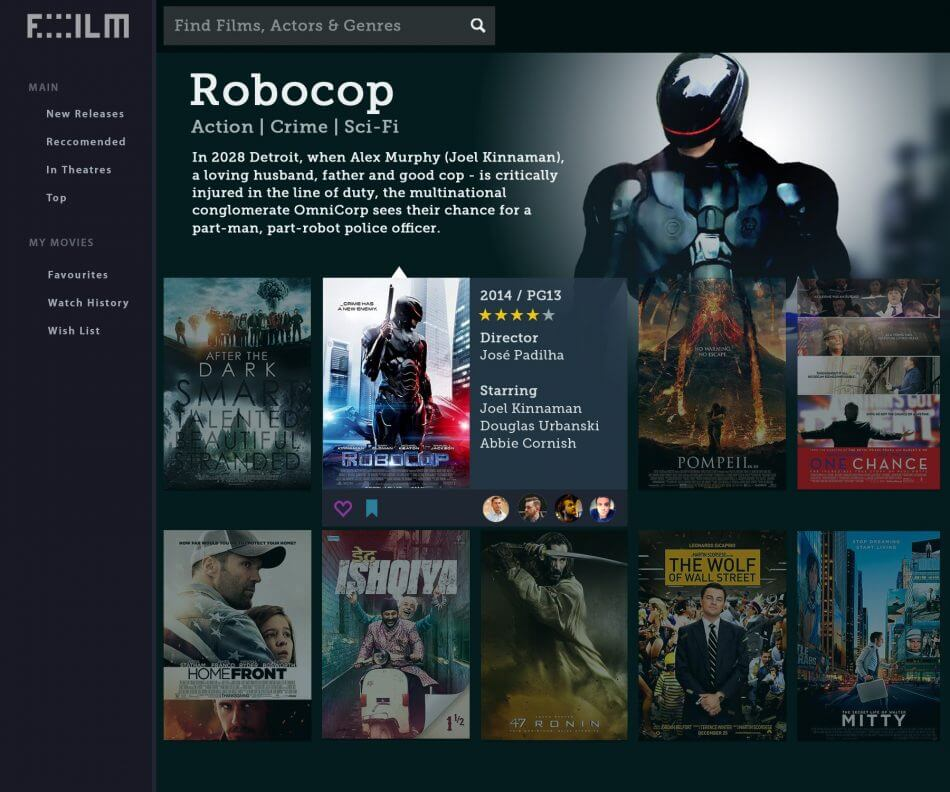 FILLM | Movie App | UI & UX