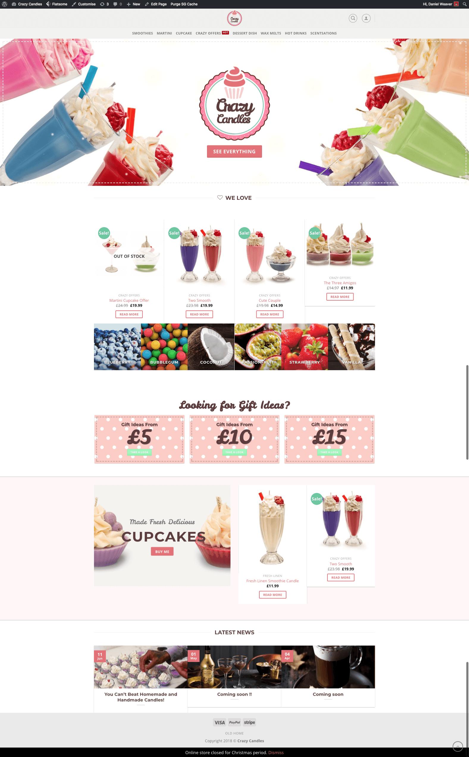 Crazy Candles | Web Build