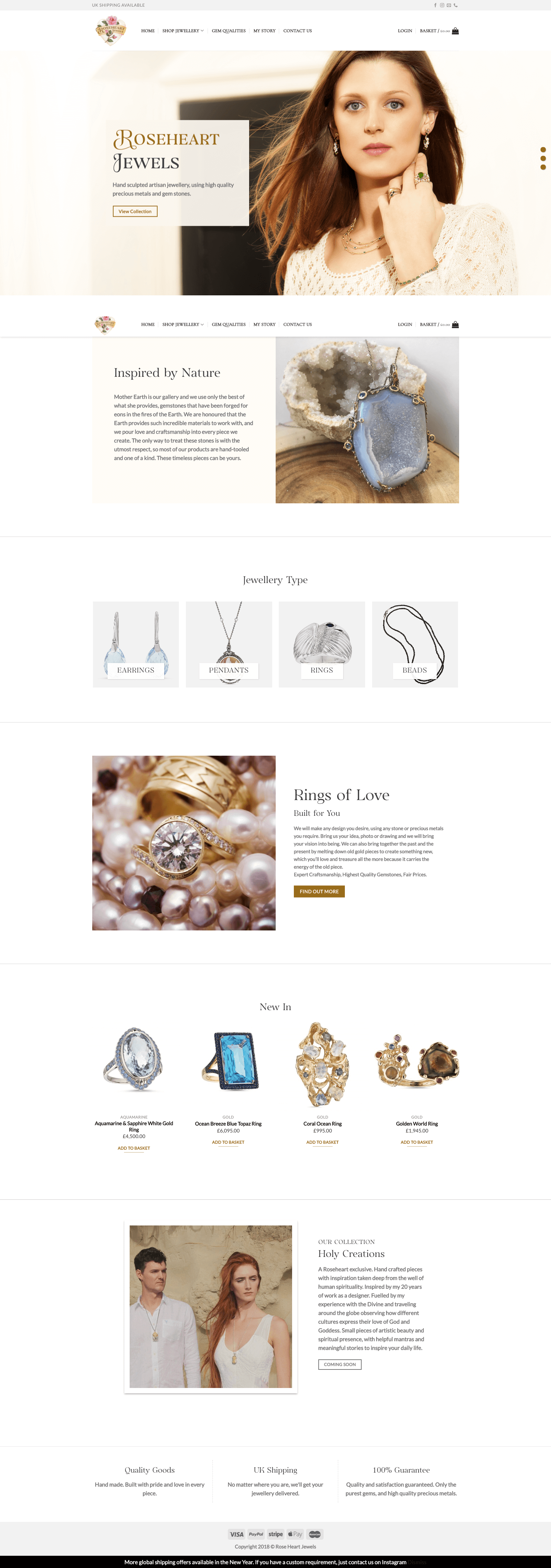 Roseheart Jewels   Web Build